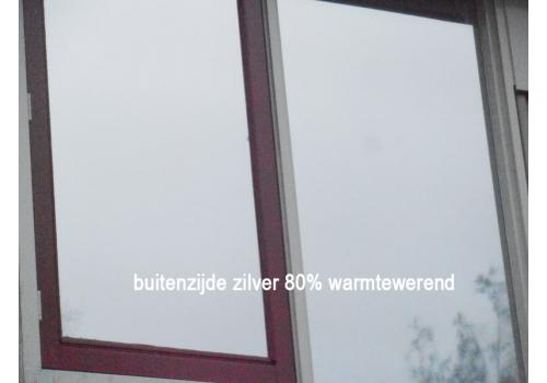 Blinderingsfolie mat-zilver (Zonwering 80%)